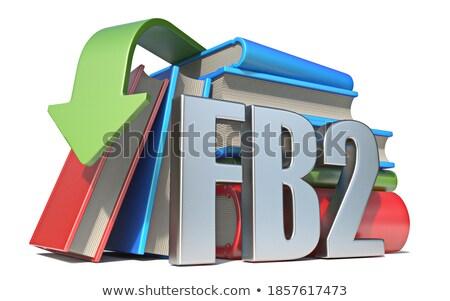 Ebook pobrania 3D 3d ilustracja odizolowany Zdjęcia stock © djmilic