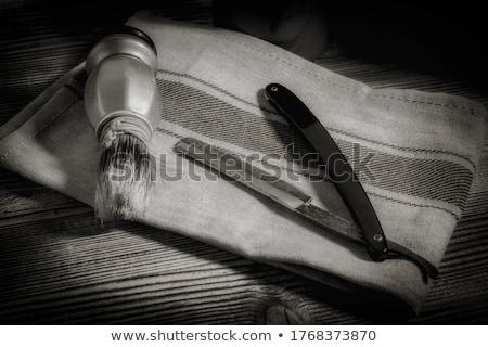 Klasszikus borotva acél fehér antik tok Stock fotó © FOKA