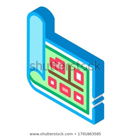 топография электронных инструментом изометрический икона вектора Сток-фото © pikepicture