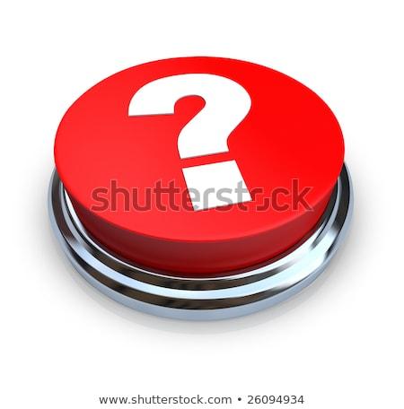 Metal düğme kırmızı soru imzalamak yalıtılmış Stok fotoğraf © rumko