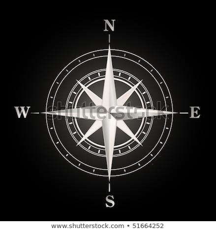 retro silver compass stock photo © hermione