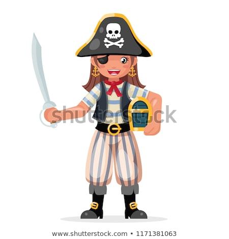 femenino · pirata · traje · mujer · ojo - foto stock © novic