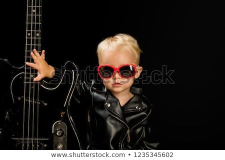 ragazzo · chitarra · tune · chitarra · acustica · cowboy · Hat - foto d'archivio © lovleah