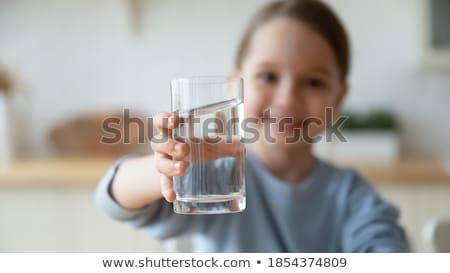 girl and glass Stock photo © cookelma