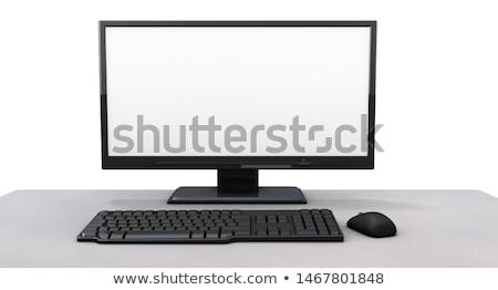 Bilgisayar monitörü klavye natürmort iş iletişim renk Stok fotoğraf © iofoto