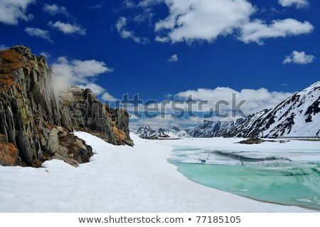 Truck on frozen lake. Stock photo © iofoto