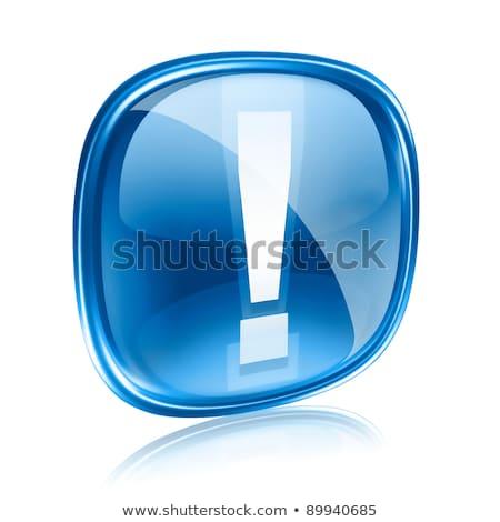 stop · ikon · kék · izolált · fehér · számítógép - stock fotó © zeffss