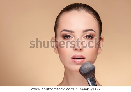 corps · soins · jeune · femme · poudre · brosse - photo stock © photography33