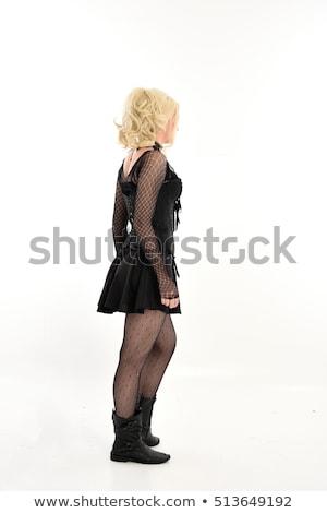 Mooie blond meisje geïsoleerd witte vrouw Stockfoto © zybr78