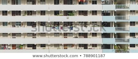 Lavandería Windows Singapur colgante fuera ventana Foto stock © 5xinc