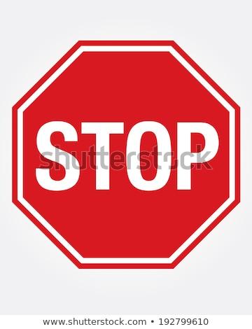 Voiture stop vecteur signe rétro Photo stock © PilgrimArtworks
