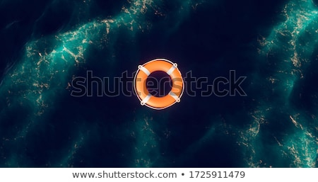 naranja · salvavidas · cuerda · naturaleza · mar · fondo - foto stock © ivonnewierink