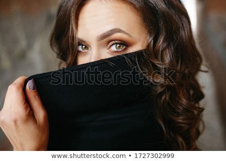 modèle · cacher · visage · portrait · belle - photo stock © zastavkin