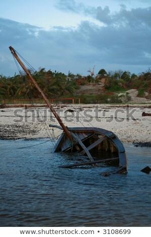 boot · oude · water · zee · meer · kabel - stockfoto © jacojvr