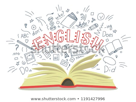 Stok fotoğraf: İngilizce · 3D · kelime · küre · beyaz · Öğrenciler