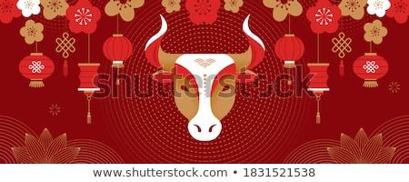 odznakę · projektu · banderą · Chiny · ilustracja · tle - zdjęcia stock © perysty