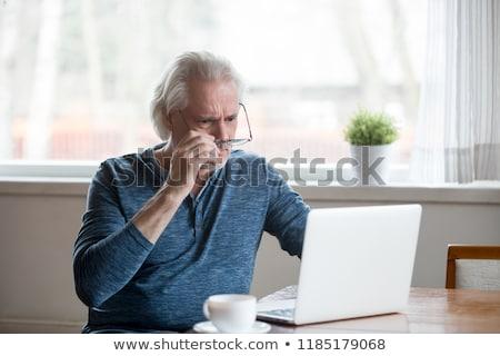 megrémült · idős · üzletember · férfi · háttér · szomorú - stock fotó © photography33