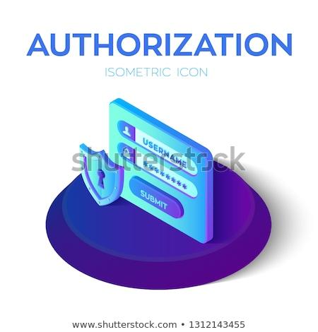 Stockfoto: Sleutel · moderne · toetsenbord · business · teken