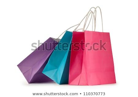 vermelho · coração · bolsa · de · compras · branco · moda · modelo - foto stock © m-studio