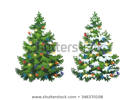 Detail of snowdrift and Christmas tree Stock photo © brozova