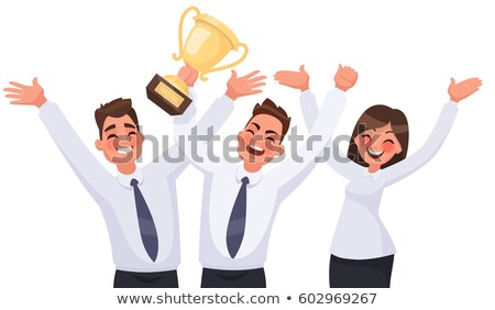 worker holding a trophy cup stock photo © photography33