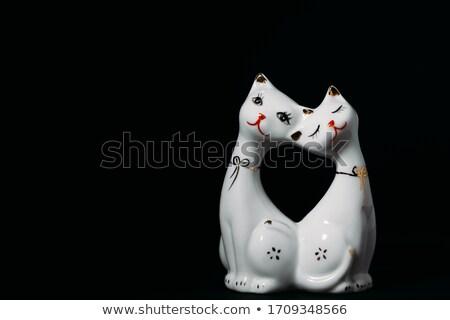 Souvenir speelgoed varken witte geïsoleerd Stockfoto © acidgrey