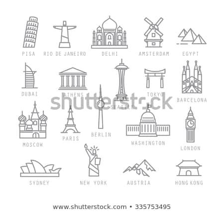 Washington ikon terv karcolás Amerika ötlet Stock fotó © Myvector