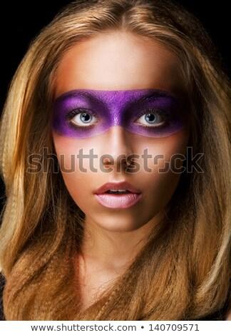 Creativity Shiny Woman Actress With Bright Make Up Glamor Zdjęcia stock © Gromovataya