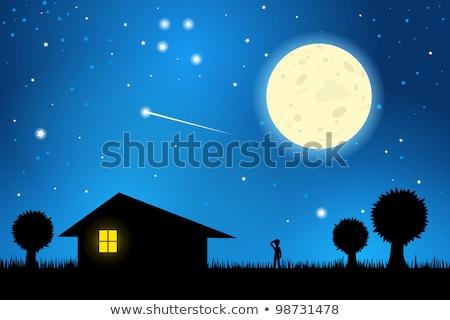 Kereszt csillagos ég égbolt fény terv Jézus Stock fotó © carodi