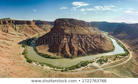Patkó kanyar Colorado folyó fénykép híres Stock fotó © oliverjw