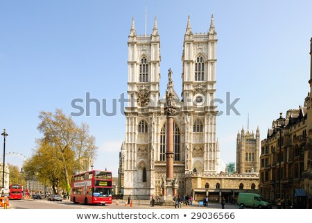 Front facade of Westminster Abbey on a sunny day. London, UK Stock photo © Antartis