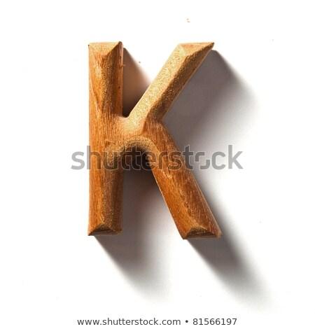 wooden alphabet - letter K Stock photo © ozaiachin