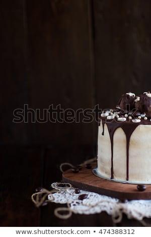 vanilla flavor ice cream with chocolate crumbles in front of chocolate ice cream Stock photo © Rob_Stark
