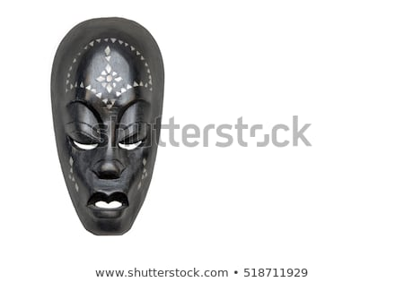 African sculpture of the head Stock photo © smuki