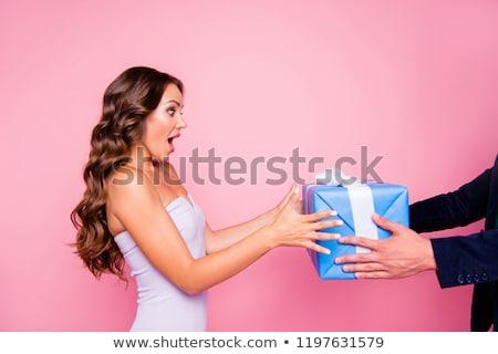 Vicces nő rázkódás modell haj füst Stock fotó © photography33