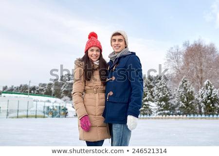 пару зима одежду женщину моде Сток-фото © photography33