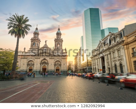 Historic architecture of Plaza de Armas in Santiago  Stock photo © benkrut
