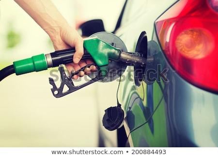 газ автомобилей АЗС насос промышленности Финансы Сток-фото © ssuaphoto