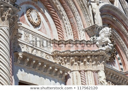 Siena Cathedral detail Stock photo © aladin66