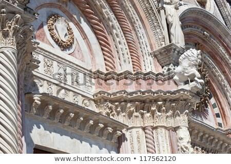 részlet · katedrális · épületkülsők · építészeti · részletek · Olaszország - stock fotó © aladin66