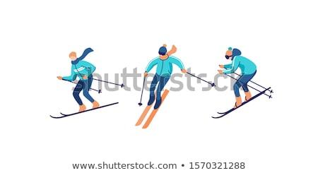Zwart wit sport silhouet gevaar recreatie vector Stockfoto © mayboro1964