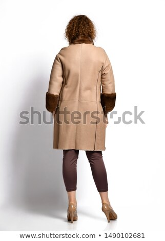 female back with leather collar with cuffs Stock photo © pxhidalgo