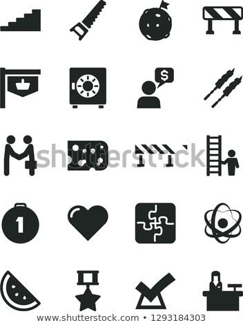web traffic concept on orange puzzle stock photo © tashatuvango