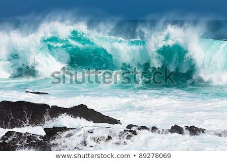 Golven ruig kust noordelijk Ierland oceaan Stockfoto © wildnerdpix