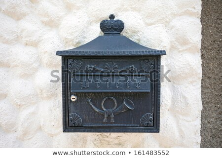 Old typical maibox on Hallstatt village Stock photo © pixachi