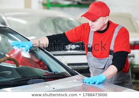 Tamir araç tutkal kâğıt Bina çalışmak Stok fotoğraf © shutswis