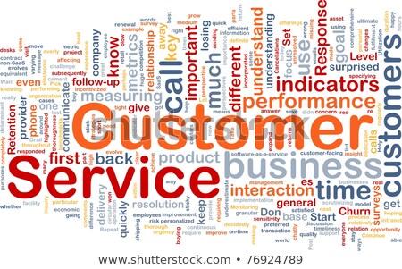 client · réponse · croissance · graphique · icône - photo stock © tashatuvango