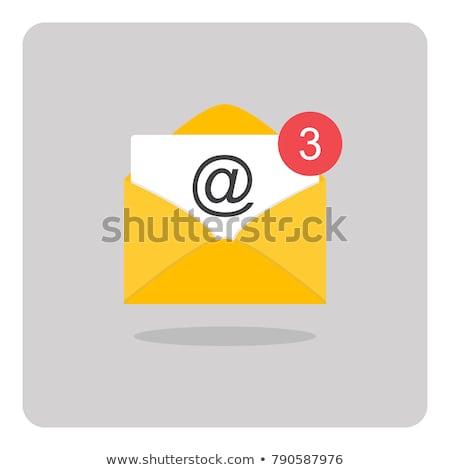 E-mail mesajlaşma teknoloji vektör soyut dünya Stok fotoğraf © burakowski