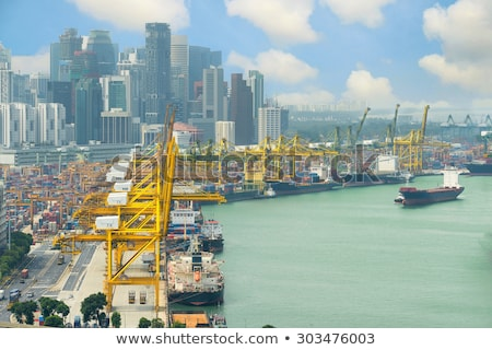 Port Singapour panoramique vue industrielle affaires Photo stock © joyr