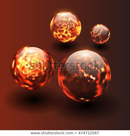 Bola abstrato espaço vermelho energia chama Foto stock © Guru3D